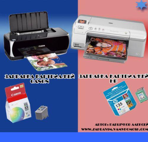 Видеокурс Заправка картриджей струйных  принтеров