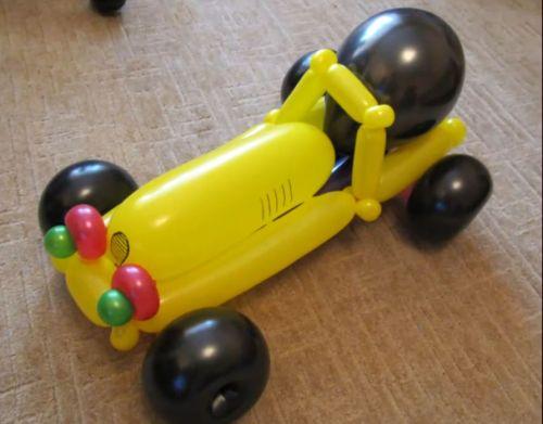 Видеокурс Автомобиль из шариков