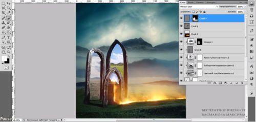Видеокурс Photoshop. Ворота в другой мир