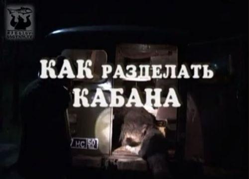 Видеокурс Как разделать кабана